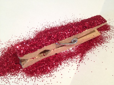 Glitter, peg, fridge, magnet