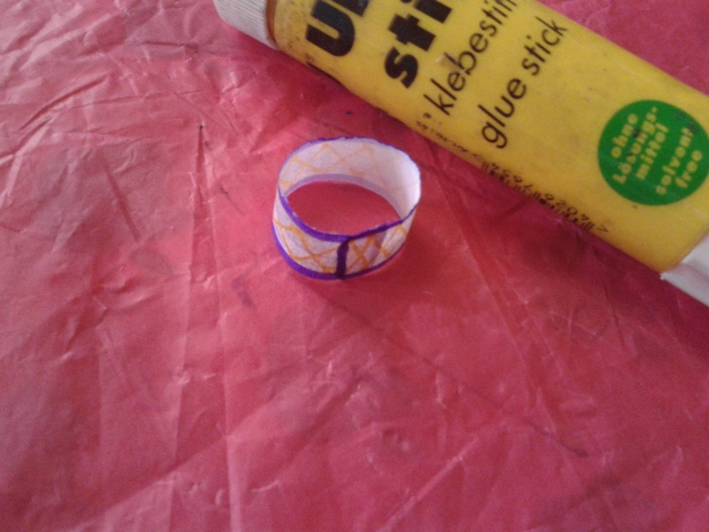 Glue and paste the edges to form a ring