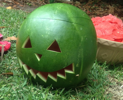 halloween, halloween watermelon lantern, carving a watermelon, halloween lantern, unusual halloween lantern