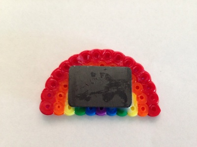 Hama bead, rainbow fridge magnet, rainbow, rainbow craft, rainbow magnet, homemade rainbow magnet, Hama bead craft ideas