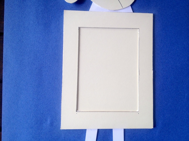 handmade homemade sheep lamb photo frame kids craft