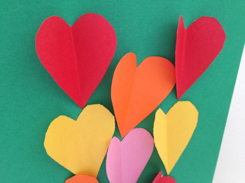 Heart, valentine, card, papercraft  - I Love You Hearts Card