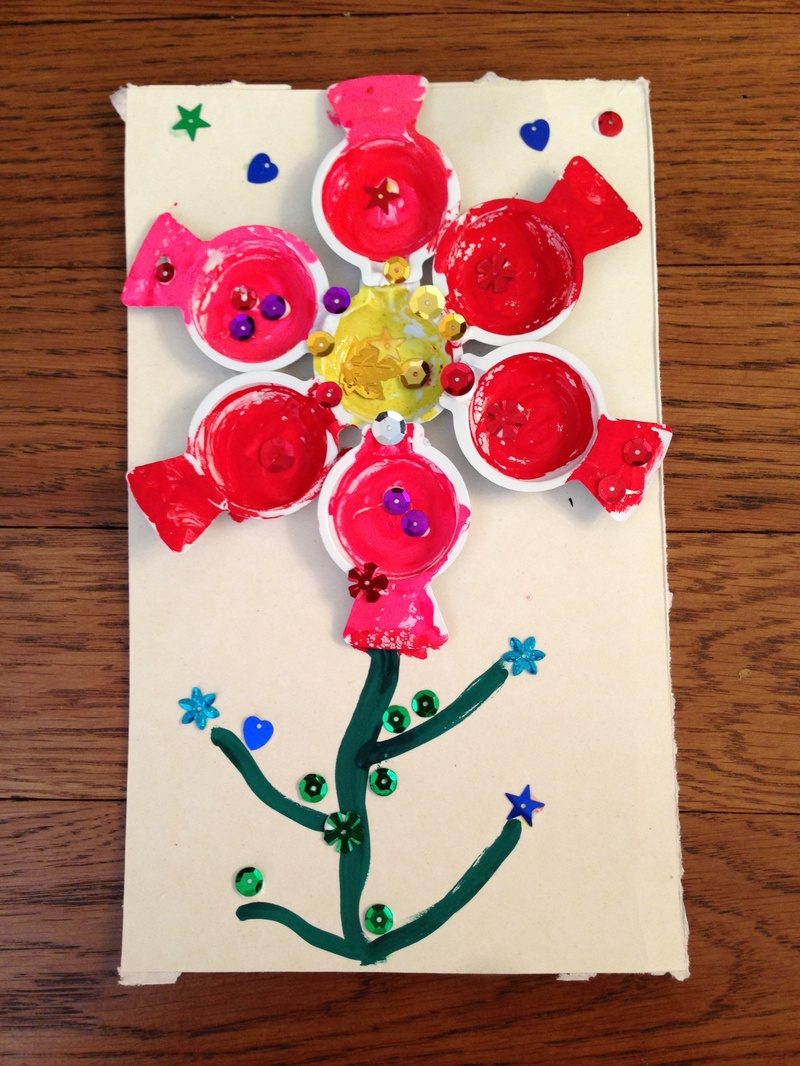 Recycled Spring Flower