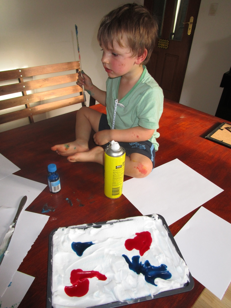 Shave Foam Painting