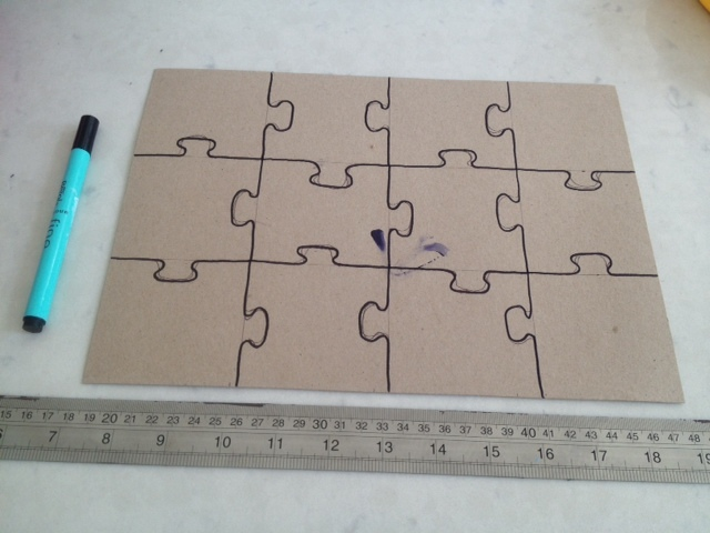 12 Piece Puzzle Template from mykidcraft.com