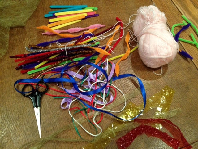 weavings with popsicle sticks kids craft idea  - Popsicle Stick Weaving