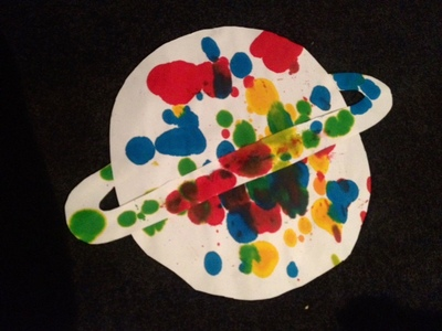 kids craft planet homemade splatter ink space