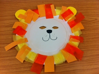 lion, mask, paper craft, any age, under 5's, Daniel in the lion's den, fancy dress