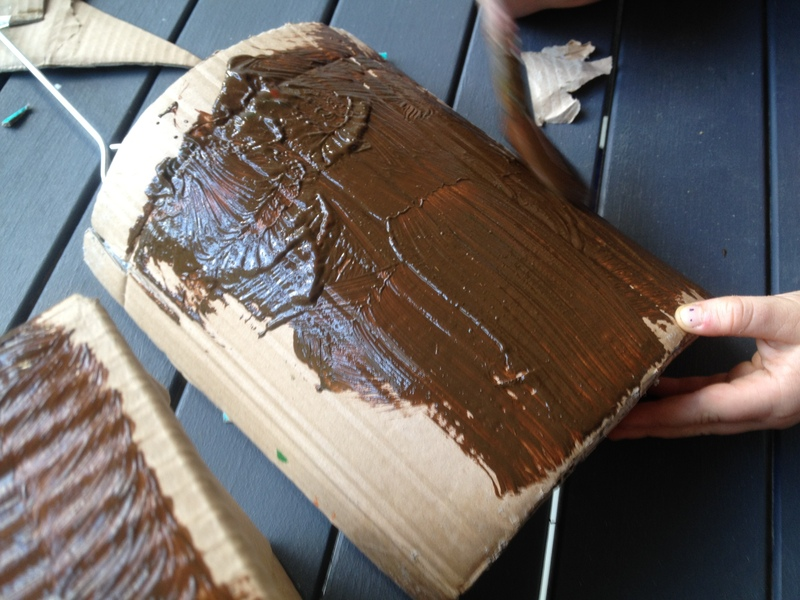 cardboard, recycled craft, wipes box craft idea  - Pirate Treasure Chest