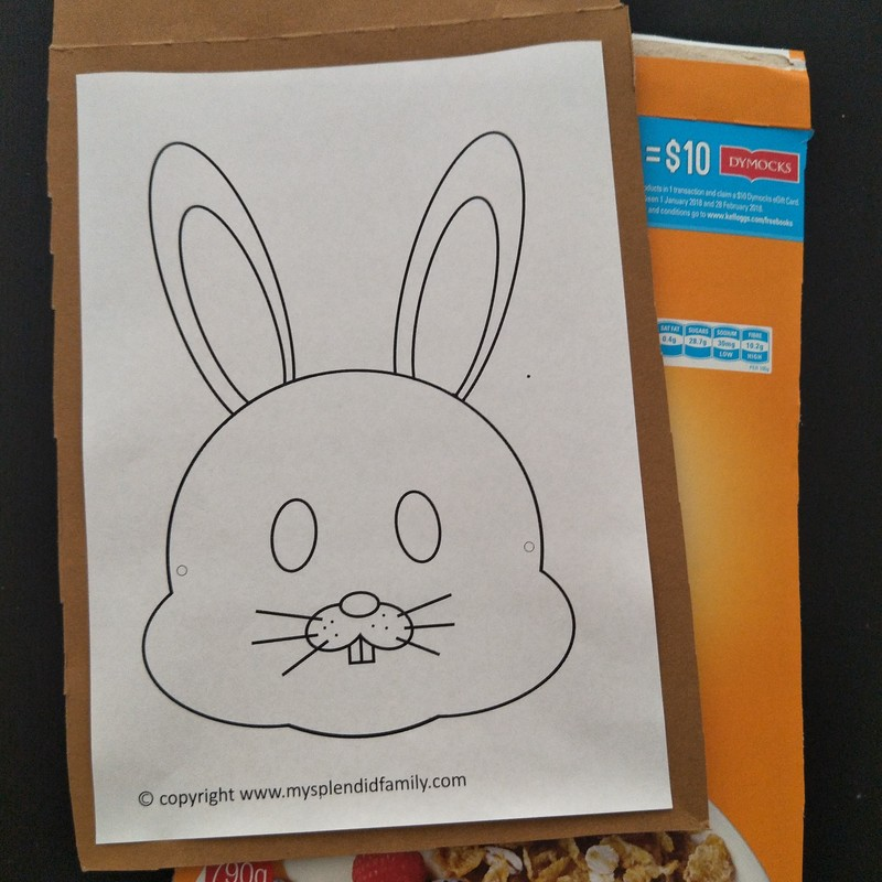 Making an Easter Bunny Mask for Kids  - Easter Bunny Mask