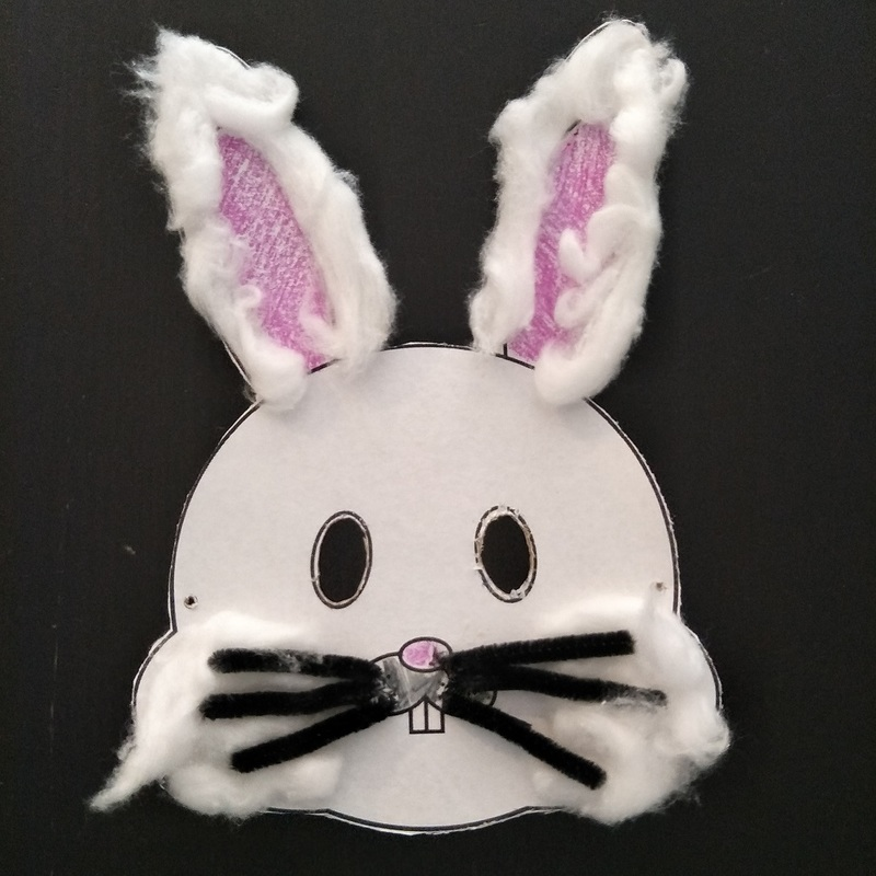 Making an Easter Bunny Mask for Kids