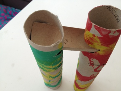 Marble run, cardboard tube, toilet roll, game