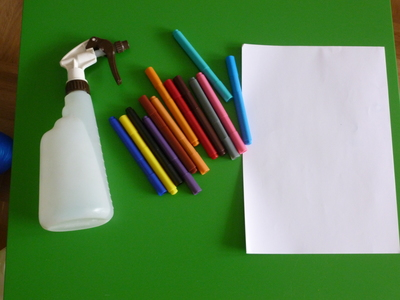 marker pens felt-tip pens paper spray bottle