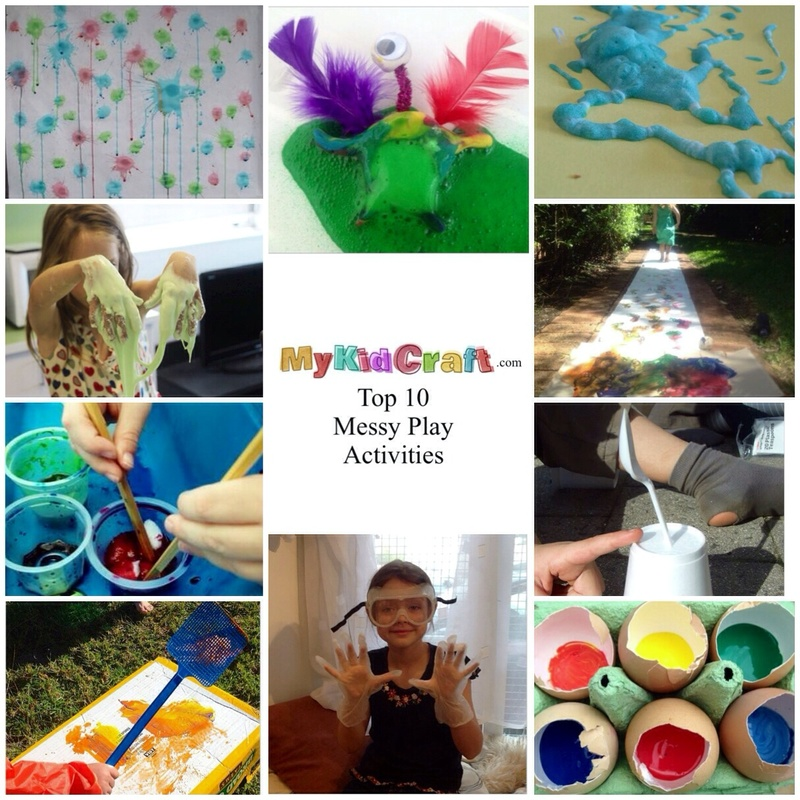 Messy play, messy play ideas for kids, messy play activities, best messy play, rope messy play ideas  - Top 10 Messy Play Activities