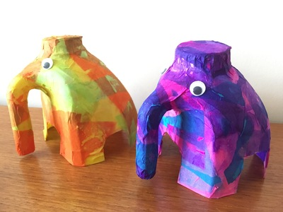 milk bottle elephant, elephant craft, elephant made from milk bottle, elephant craft ideas, recycled craft ideas, how to make a milk bottle elephant, craft ideas, kids craft, fun craft