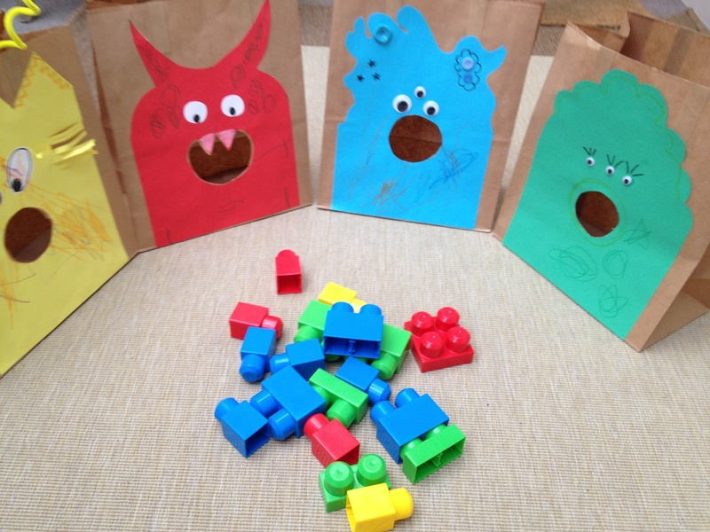 Monster, game, colour, Lego, preschool