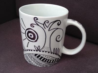 mug, sharpie, permanent marker, design, oven bake sharpie mug, kids, over 10