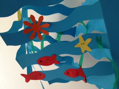 ocean, sea, kids, paper, fish, octopus, aquarium