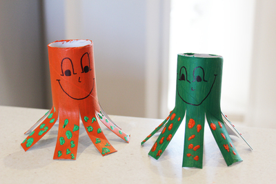 octopus, octopi, octopuses, kids craft, toilet roll crafts, animal crafts, sea creatures