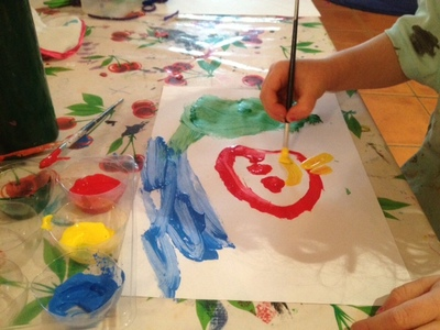 painting, preschooler painting, art for jigsaw, painting for jigsaw puzzle