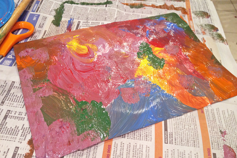 paintings, patterns, kids artwork, sticky tape painting  - Patterned Paintings