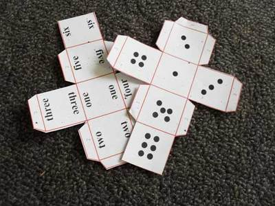 paper dice,printable dice,game dice