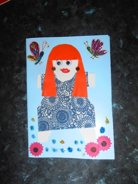 paper dolls  - Paper Doll Card