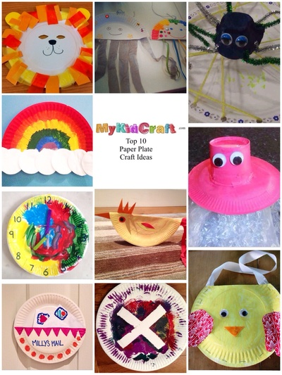 Paper plate craft ideas, top 10 paper plate crafts for kids, paper plate kids craft, craft ideas with paper plates