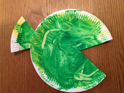 paper plate, fish, toddler, pre school, paint, art, craft, children