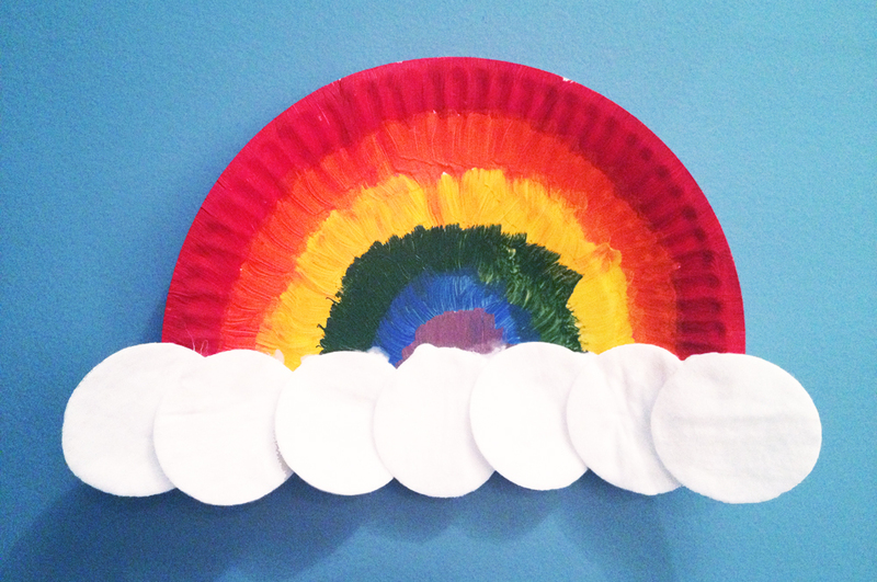 paper plate rainbow craft paper plate rainbow my kid craft 5113