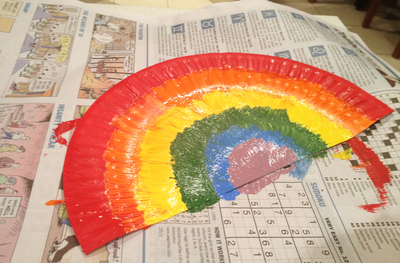 paper plates, rainbows, kids craft, rainbow themed parties, paper plate crafts