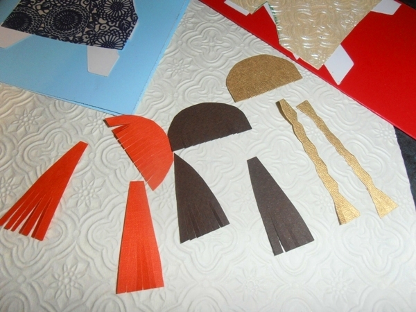 papercraft  - Paper Doll Card