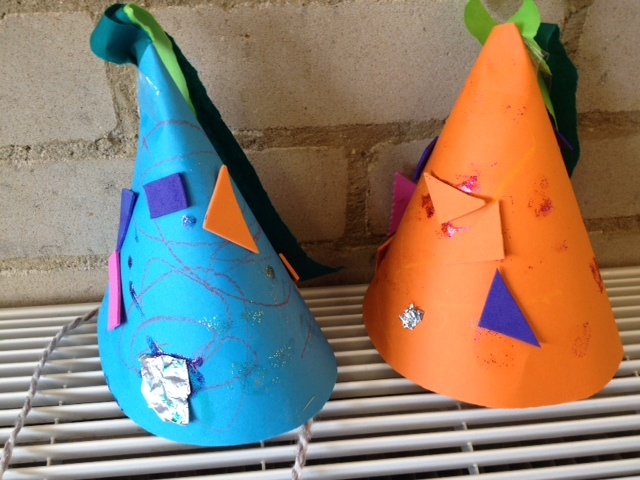 party hat, paper hat, birthday, celebration, toddler, pre school, craft, kids, children, make it yourself