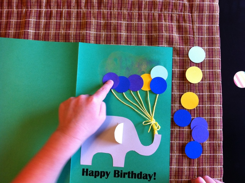 paste balloons  -  Paper Punch Balloon Birthday Card