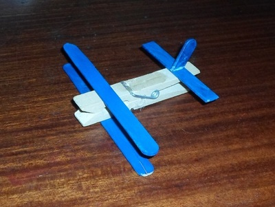 peg aeroplane craft activity