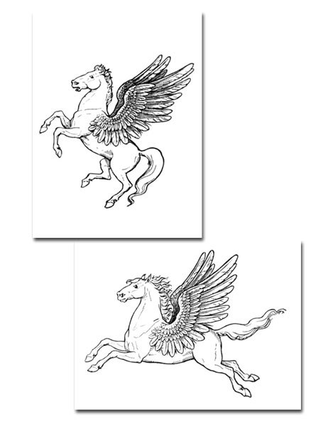 pegasus,colouring page,poster,free printable