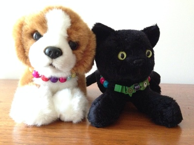 Pet collars toys, you pet collar, beads collar toys, kids soft toy craft, beading craft ideas