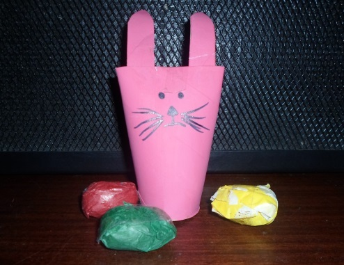 pink easter bunny craft toilet roll  - Toilet Roll Easter Bunny