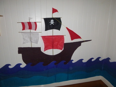 pirate ship bedroom wall decoration