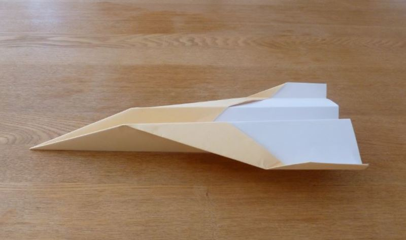 Plane paper folding craft transport  - How to fold a paper plane