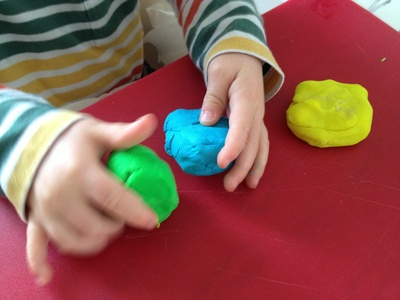 Play dough, preschool, fine motor, monster, alien