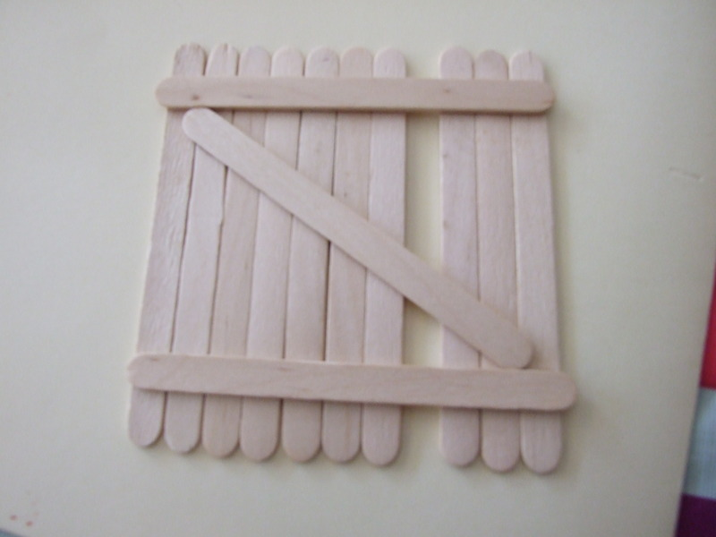 popsicle sticks  - Father's Day card