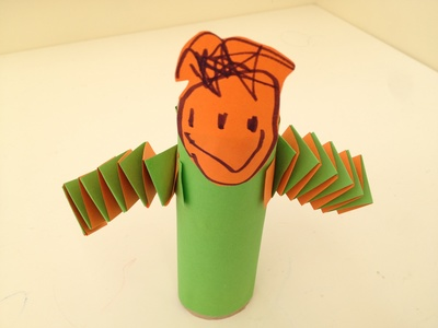 Preschool, toilet roll, people, papercraft, accordion