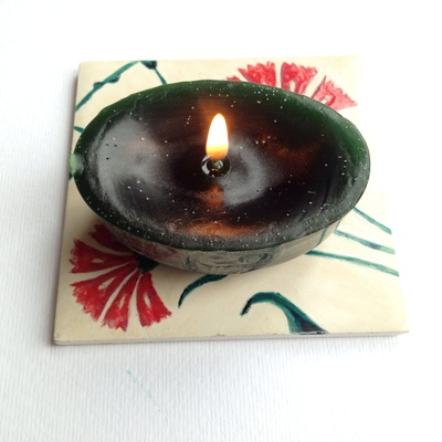 Recycled candle mould, yoghurt pot candle mould, homemade mould for candles