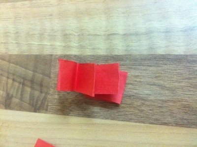 red paper folded