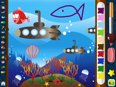 Kid Art screenshot, best creative Apps for Kids on iPad