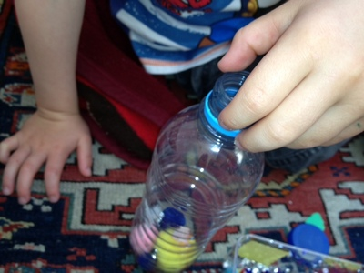 sensory, bottle, baby, play, activity, recycled