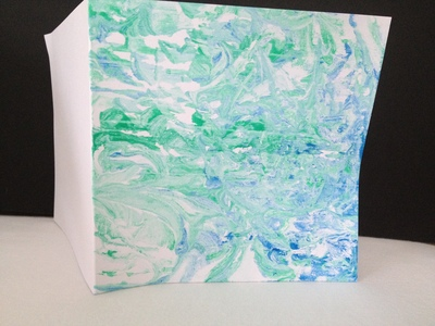 shaving foam, paint, art, under 5, preschool, marble effect