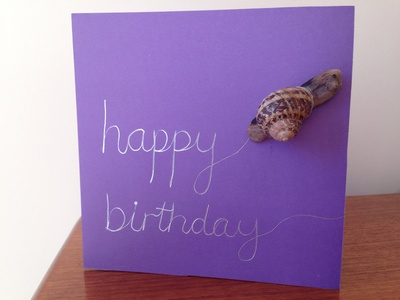 Snail birthday card, snail shell card, snail shell birthday card, snail card, snail greeting card