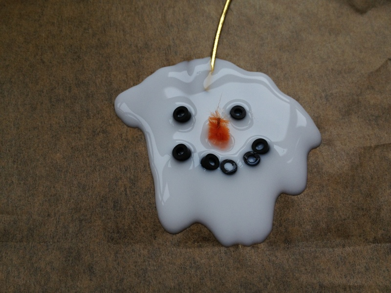 Snowman, Christmas, decoration, glue